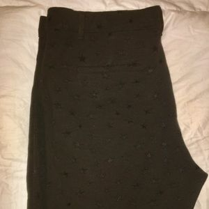 The Gap Ankle Pants in Black with Stars all over